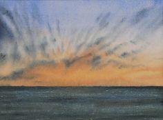 Sky and Ocean IV - Watercolor Paintings