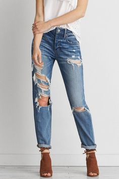 a8de4503d7 American Eagle Outfitters Tomgirl Jean High Waisted Baggy Jeans
