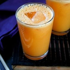 Refreshing drink for the summer - made with sweet, fresh Pineapple, carrot and ginger.