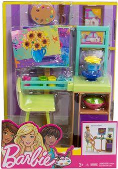 Barbie Puppy, Barbie Sets, Barbie Dolls Diy, Barbie Fashionista Dolls, Barbie Food, Doll Clothes Barbie, Barbie Doll House, Mattel Barbie, Diy Doll