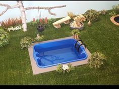 Como Fazer Piscina Para Barbie Casa Da Barbie área Externa Quintal Youtube Diy Doll Pool Diy Barbie Furniture Barbie House