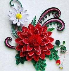 *QUILLING ~ paper quilled flower