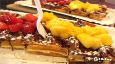 La gaufre Erdbeeren, Mango & Nutella