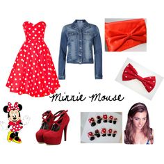 """""""Minnie Mouse"""" by jillianpino18 on Polyvore"""