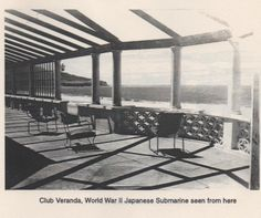 1930's view of the Ocean and Palos Verdes from the Hollywood Riviera Beach Club. Hagins collection.
