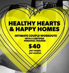 Replace the sweets this Valentine's Day with intimate couple workouts with a personal trainer!