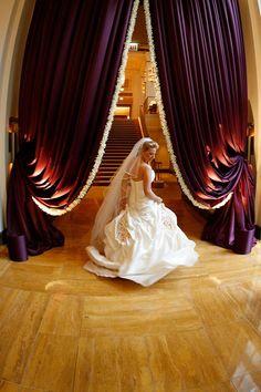 For opulent luxury. Reception Backdrop, Wedding Reception, Wedding Ideas, Drapery, Curtains, Grand Entrance, Ceremony Decorations, Window Coverings, Luxury Wedding