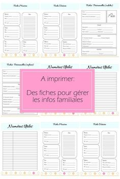 Free Printable Kit Home Binder (In Spanish)// Kit de fiches organisation a imprimer info perso