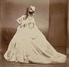 Virginia Oldoini, Coutness of Castiglione. The mistress of Napoleon III, who was best known for her outlandish appearances and outfits. La Castiglione spent her nearly her whole life fortune on commissioning a series of over 700 portraits of herself.