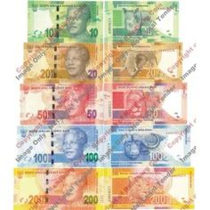 * Gill Marcus - Issue - Identical serial Number Set of Mandela UNC Notes ""