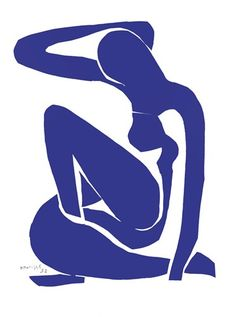 Blue Nude I, Art Print by Henri Matisse