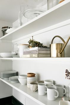 Open shelves can be