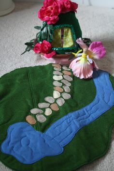 Hippos and Dinosaurs: Fairy Garden Playmat