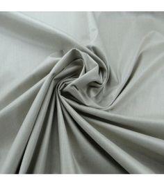 Coton uni gris argent - Lolie Shop
