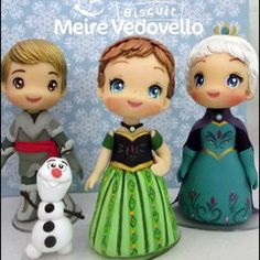 Frozen Fever Polymer Clay Figures, Polymer Clay Dolls, Anna Frozen, Bolo Olaf, Frozen Theme Cake, Clay Figurine, Fondant Tutorial, Pasta Flexible, Clay Charms