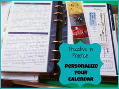 Proactive in Practice - Week 2: Personalize Your #Calendar  (#free #printable weekly template)