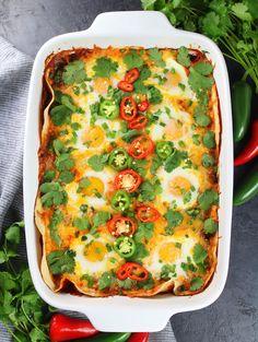 Huevos Rancheros Breakfast Casserole Recipe & Image - Full Pan OT