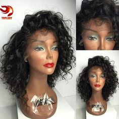 100 Human Hair Wigs For African Americans Kinky Curly Full Lace Wig Lace Front…
