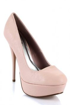A nude stiletto is an essential for every woman's closet; they go with everything!