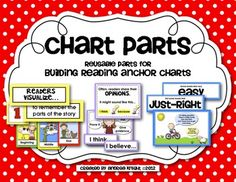 """Chart Parts""  {Reading Anchor Charts - Set 1}  Build engaging, developmentally appropriate anchor charts with your students in reading workshop... many resources.  120 pages, $"