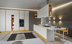 My Kitchen is Your Kitchen. Fenix Ntm, Accent Colors, Conference Room, Divider, Interior, Kitchen, Table, Furniture, Design
