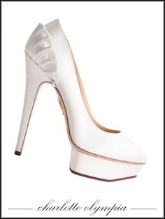 Charlotte Olympia Bridal Range shoes, $810 For information: charlotteolympia.com