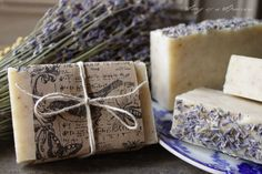 Pure Lavender Soap handmade soap all natural by SongofaSparrow
