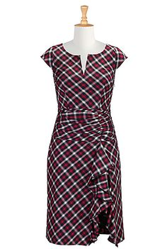 Ruffle front plaid check dress. Not something I'd normally pick at first glance, but it's rather cute and sassy!