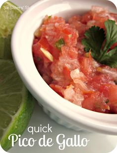 Quick Pico de Gallo Recipe.  Just throw the ingredients in your food processor and you are good to go! #sidedish #pico #recipe