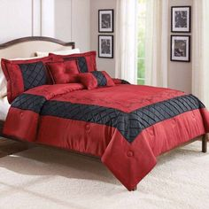 Better Homes and Gardens Ruby 5-Piece Comforter Set, Red