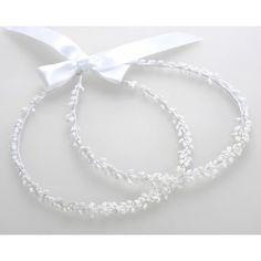 Στέφανα Γάμου Χειροποίητα Λευκά Πορσελάνινα Λουλούδια