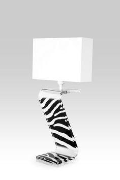 Lampe Z zèbre blanche