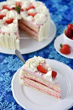 Gluten Free Recipes, Vegetarian Recipes, Cake Recept, Polish Recipes, Polish Food, Types Of Cakes, Sweet Desserts, Vanilla Cake, Catering