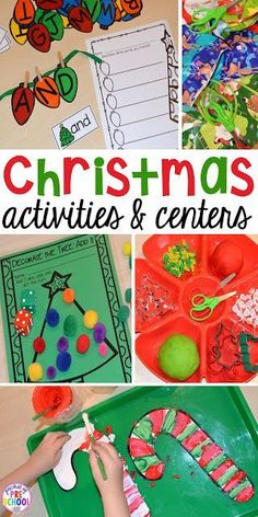 Freebies - My go to Christmas themed math, writing, fine motor, sensory, reading, and science activities for preschool and kindergarten.
