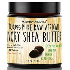 Molivera Organics Raw African Organic Grade A Ivory Shea Butter for Natural Skin Care, Hair Care - 16 oz. - Find The Latest Anti-Aging Products Homemade Moisturizer, Best Moisturizer, Organic Skin Care, Natural Skin Care, Natural Beauty, Sugar Consumption, Body Butter, Skin Care Tips, Natural Hair Styles