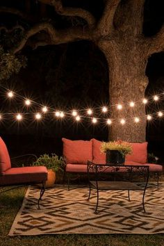 Awesome outdoor lights and furniture