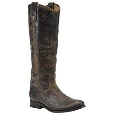 FRYE Women's Melissa Button Knee-High Boot in vintage chocolate leather