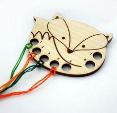 Fox Embroidery Floss Thread Organizer / Keeper Laser by Tangerine8, $10.00