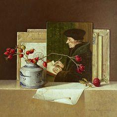 Four seasons - Autumn . Vier seizoenen - Herfst 2009 (30 x 30 cm)  by Ingrid Smuling