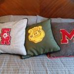 old varsity high school letters--fun way to display