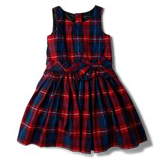 Checked sleeveless dress 8 & 16yrs
