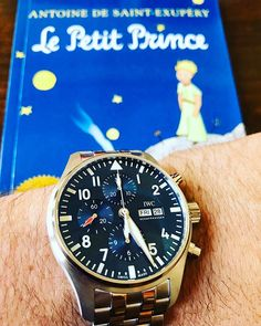 REPOST!!!  Quelle heure est-il?  #horology #hodinkee #ablogtowatch #fratellowatches #instawatch #watchuseek #watchnerd #lepetitprince #antoinesaintexupery #iwc #livre #bookstagram #montres #chronograph #madeinswitzerland #watchaddict #enfrancais #watchporn #fliegerfriday #schaffhausen #b612 #7750 #watchesofinstagram #watchaddict  Photo Credit: Instagram ID @adamephoto