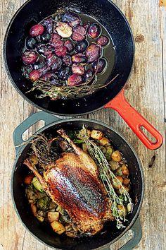 Patasorsaa ja Viinirypälekastike // Oven roasted Duck & Grape sauce Food & Style Joonas Laakso, onko nälkä Photo Joonas Laakso www.maku.fi