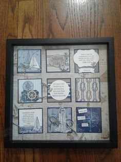 Hand made stamped framed artwork. Some items are dimensional. The frame size is 12 x Box Frame Art, Shadow Box Frames, Kwanzaa, Anchor Bible Verses, Diwali, Collage Frames, Collage Ideas, Scrapbook Cards, Scrapbook Frames