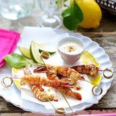 Crevettes sautées à la citronnelle Poivre De Sichuan, Grill N Chill, Chips, Barbecue, Shrimp, Waffles, Grilling, Tacos, Mexican