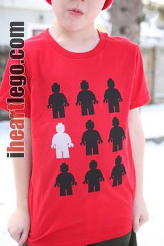 I like this T-shirt, how one lego man stands out from the rest (like Daniel did...)