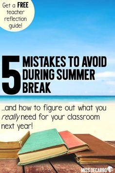 5 Mistakes to Avoid During Summer Break: FREE Teacher Reflection Sheet to figure out what you really need for your classroom next school year. Christina shares how to map out your goals for organization, instruction, content, and classroom management. Teacher Organization, Teacher Tools, Teacher Hacks, Teacher Resources, Classroom Resources, Teacher Stuff, First Year Teachers, New Teachers, Middle School Science