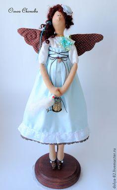 """Куклы Тильды ручной работы. Ярмарка Мастеров - ручная работа Тильда фея. """"Шоколадные крылышки"""". Handmade."""
