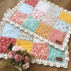 Super Sewing Fabric Scraps Crafts Ideas - Diy and crafts interests Crochet Quilt, Crochet Home, Recycler Diy, Crochet Projects, Sewing Projects, Quilt Patterns, Sewing Patterns, Diy And Crafts Sewing, Diy Crafts