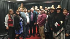 """During a campaign visit in Seattle, Vermont Senator Bernie Sanders received a Coast Salish name. Dxʷshudičup translates to """"the one lighting the fires for change and unity."""""""